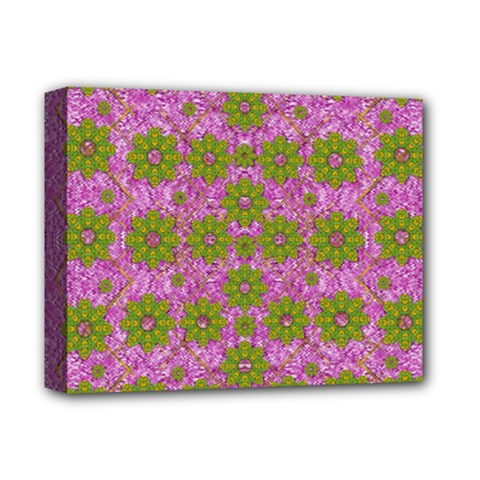 Paradise Flowers In Bohemic Floral Style Deluxe Canvas 14  X 11  by pepitasart