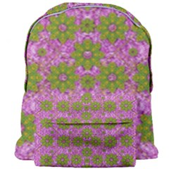 Paradise Flowers In Bohemic Floral Style Giant Full Print Backpack by pepitasart