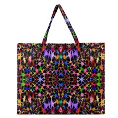Colorful 16 Zipper Large Tote Bag