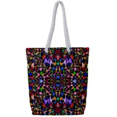 Colorful 16 Full Print Rope Handle Tote (small)