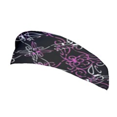 Dark Intersecting Lace Pattern Stretchable Headband