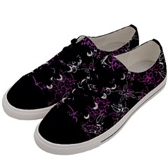 Dark Intersecting Lace Pattern Men s Low Top Canvas Sneakers by dflcprints