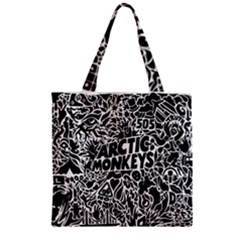 Arctic Monkeys Cool Zipper Grocery Tote Bag