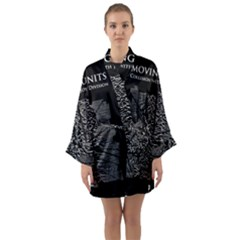 Moving Units Collision With Joy Division Long Sleeve Kimono Robe