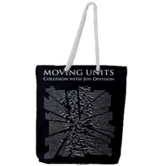 Moving Units Collision With Joy Division Full Print Rope Handle Tote (large) by Samandel