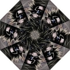 Angry Male Lion Digital Art Folding Umbrellas
