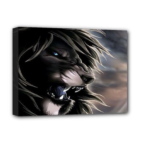 Angry Male Lion Digital Art Deluxe Canvas 16  X 12
