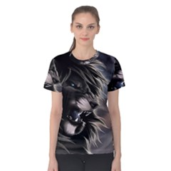 Angry Male Lion Digital Art Women s Cotton Tee
