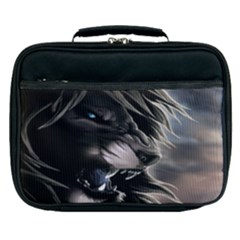 Angry Male Lion Digital Art Lunch Bag