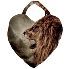 Roaring Lion Giant Heart Shaped Tote