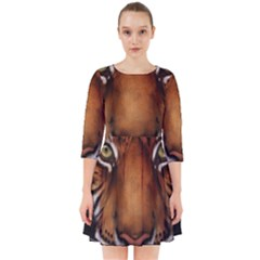 The Tiger Face Smock Dress