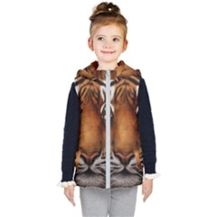 The Tiger Face Kid s Hooded Puffer Vest