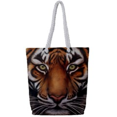 The Tiger Face Full Print Rope Handle Tote (small)