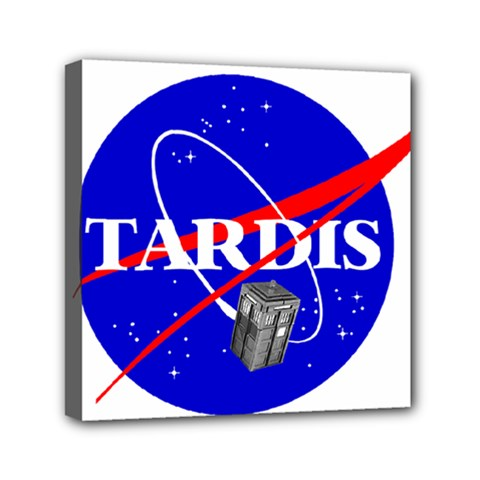 Tardis Nasa Parody Canvas Travel Bag