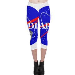 Tardis Nasa Parody Capri Leggings