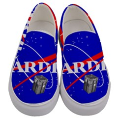 Tardis Nasa Parody Men s Canvas Slip Ons
