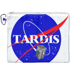 Tardis Nasa Parody Canvas Cosmetic Bag (xxxl) by Samandel