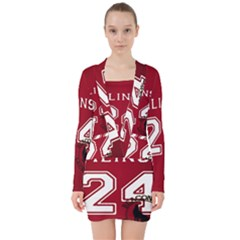 Stilinski Teen Wolf Beacon Hills Lacrosse V Neck Bodycon Long Sleeve Dress
