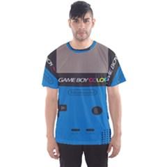Game Boy Colour Blue Men s Sports Mesh Tee