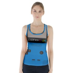 Game Boy Colour Blue Racer Back Sports Top