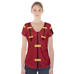Robin Body Costume Short Sleeve Front Detail Top