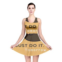 Sloth Just Do It Tomorrow Reversible Skater Dress