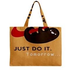 Sloth Just Do It Tomorrow Zipper Mini Tote Bag by Samandel
