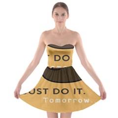 Sloth Just Do It Tomorrow Strapless Bra Top Dress