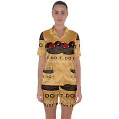 Sloth Just Do It Tomorrow Satin Short Sleeve Pyjamas Set