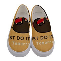 Sloth Just Do It Tomorrow Women s Canvas Slip Ons