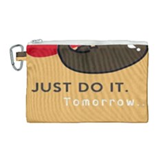 Sloth Just Do It Tomorrow Canvas Cosmetic Bag (large)