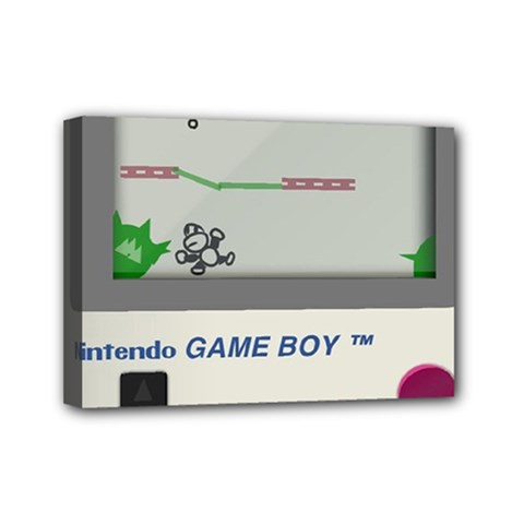 Game Boy White Mini Canvas 7  X 5  by Samandel