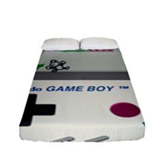 Game Boy White Fitted Sheet (full/ Double Size) by Samandel