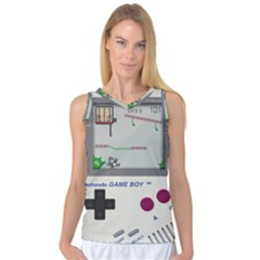 Game Boy White Women s Basketball Tank Top