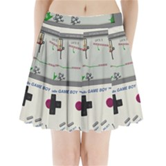 Game Boy White Pleated Mini Skirt
