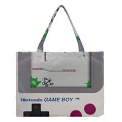 Game Boy White Medium Tote Bag by Samandel