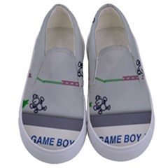 Game Boy White Kids  Canvas Slip Ons