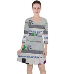 Game Boy White Ruffle Dress