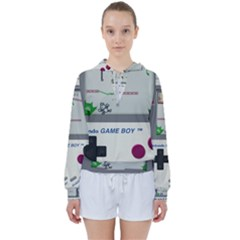 Game Boy White Women s Tie Up Sweat