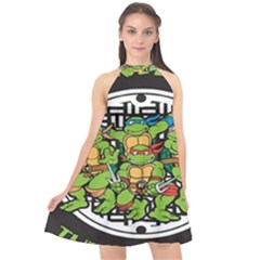 Teenage Mutant Ninja Turtles Hero Halter Neckline Chiffon Dress