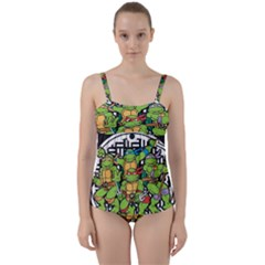 Teenage Mutant Ninja Turtles Hero Twist Front Tankini Set