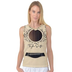 Classic Vintage Guitar Women s Basketball Tank Top
