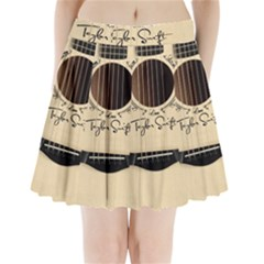 Classic Vintage Guitar Pleated Mini Skirt