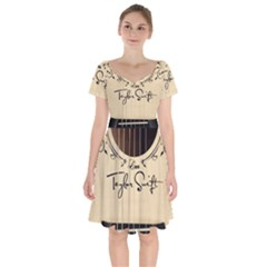 Classic Vintage Guitar Short Sleeve Bardot Dress