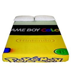 Game Boy Yellow Fitted Sheet (king Size)