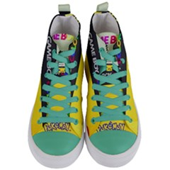 Game Boy Yellow Women s Mid Top Canvas Sneakers