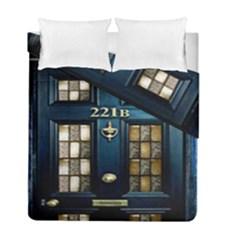 Tardis Sherlock Holmes 221b Duvet Cover Double Side (full/ Double Size) by Samandel