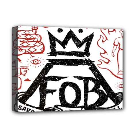 Save Rock And Roll Fob Fall Out Boy Deluxe Canvas 16  X 12
