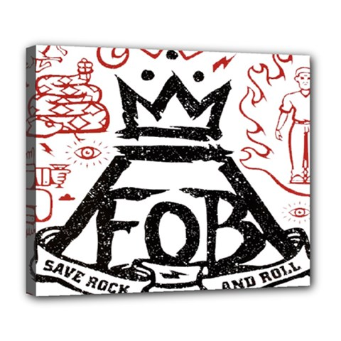 Save Rock And Roll Fob Fall Out Boy Deluxe Canvas 24  X 20   by Samandel