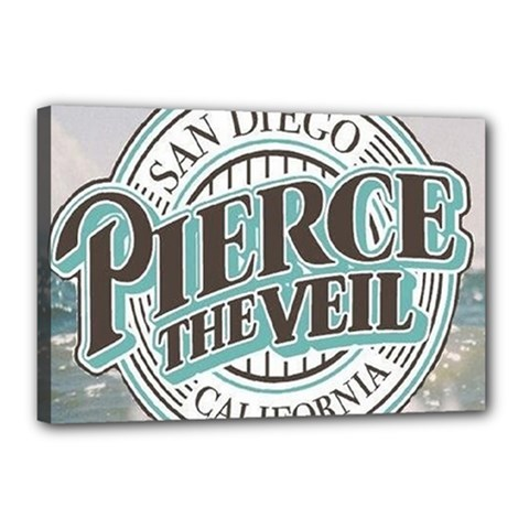 Pierce The Veil San Diego California Canvas 18  X 12